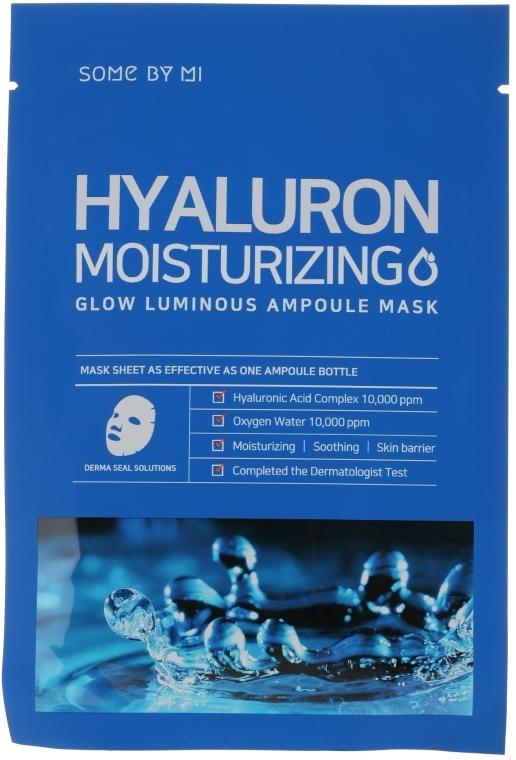 Maska s kyselinou hyalurónovou - Some By Mi Hyaluron Moisturizing Glow Luminous Ampoule Mask