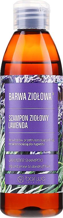 Šampón pre mastné vlasy a vlasy náchylné na lupiny - Barwa Herbal Lavender Shampoo