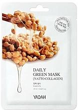"""Voňavky, Parfémy, kozmetika Maska na každodenné použitie """"Kolagén Natto"""" - Yadah Daily Green Mask Natto Collagen"""