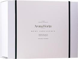Voňavky, Parfémy, kozmetika Sada - AromaWorks Men's Indulgence Gift Set (b/wash/300ml + aft/lotion/100ml + candle + flannel)