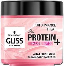 """Voňavky, Parfémy, kozmetika Maska 4-v-1 """"Lesk"""" pre poškodené, farbené vlasy - Schwarzkopf Gliss Kur Performance Treat"""