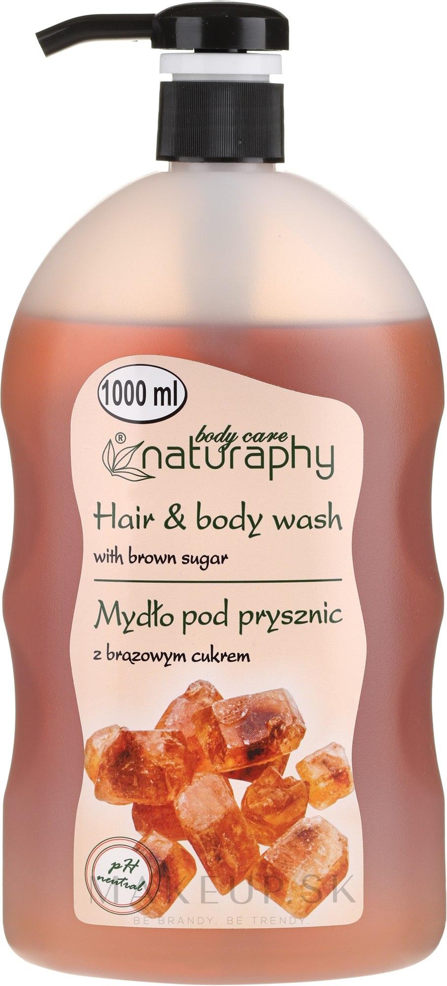 Šampón-sprchový gél s hnedým cukrom - Bluxcosmetics Naturaphy — Obrázky 1000 ml