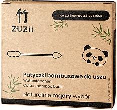 Voňavky, Parfémy, kozmetika Bambusové vatové tyčinky s rôznymi koncami - Zuzii Bamboo Cotton Buds