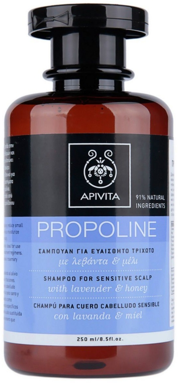 Šampón s levanduľou a medom - Apivita Shampoo For Sensitive Scalp With Lavender & Honey