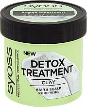 Voňavky, Parfémy, kozmetika Detoxikačná maska na vlasy s hlinkou - Syoss Detox Treatment Clay
