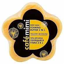 """Voňavky, Parfémy, kozmetika Sprchový gél """"Penivá špongia 2 v 1. Žltá farba"""" - Cafe Mimi Body Wash Foaming Buffer 2 in 1 Yellow Blossom"""