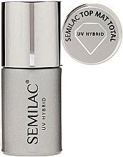 Voňavky, Parfémy, kozmetika Matný vrchný lak - Semilac UV Hybrid Top Mat