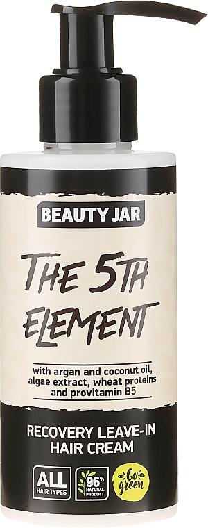 """Revitalizačný nezmazateľný krém na vlasy """"The 5th Element"""" - Beauty Jar Recovery Leave-In Hair Cream"""