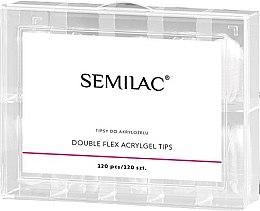 Voňavky, Parfémy, kozmetika Tipy na nechty - Semilac Double Flex Acrylgel Dual Tips