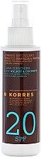 Voňavky, Parfémy, kozmetika Olej na opaľovanie - Korres Clear Sunscreen Body Face Walnut Coconut Oil SPF20