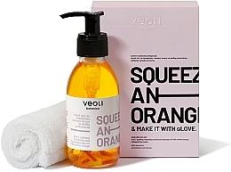 Voňavky, Parfémy, kozmetika Sada - Veoli Botanica Squeeze An Orange (f/oil/132.7g + towel/1pcs)