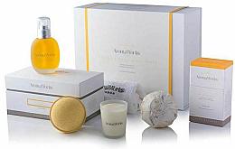 Voňavky, Parfémy, kozmetika Sada - AromaWorks Serenity Body Indulgence Gift Set (bath/bomb/2x250g + candle/75g + b/oil/100ml + flannel)