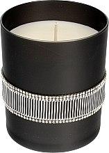 Voňavky, Parfémy, kozmetika Vonná sviečka čierna, 8x9,5 cm - Artman Crystal Glass