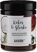 Voňavky, Parfémy, kozmetika Maska pre nízko porézne vlasy - Anwen Low-Porous Hair Mask Coconut and Clay