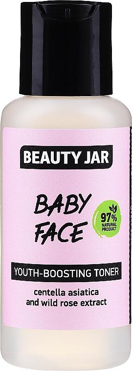 Tonikum na predĺženie mladosti pokožky s extraktom z pupočníka ázijského a divokej ruže - Beauty Jar Baby Face Youth-Boosting Toner