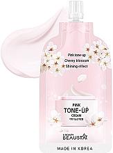 Voňavky, Parfémy, kozmetika Osviežujúci krém na tvár s extraktom z bielych kvetov - Beausta Pink Tone-Up Cream