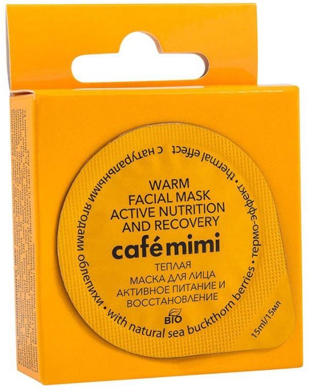 """Teplá tvárová maska """"Aktívna výživa a regenerácia"""" s prírodnými plodmi rakytníka - Cafe Mimi Warm Face Mask"""