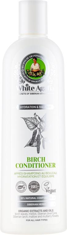"""Balzam na vlasy brezový """"Zvlhčujúci a vyvážený"""" - Recepty babičky Agafy White Agafia Birch Conditioner"""