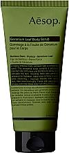 Voňavky, Parfémy, kozmetika Scrub na telo z listov pelargónie - Aesop Geranium Leaf Body Scrub