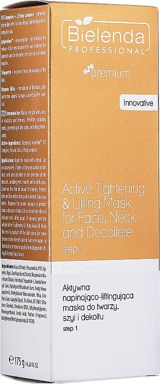 Liftingová maska na tvár, krk a dekolt - Bielenda Professional Premium Total Lifting PPV+ Mask