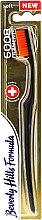 Voňavky, Parfémy, kozmetika Mäkká zubná kefka, oranžová - Beverly Hills Formula 6008 Filament Multi-Colour Toothbrush