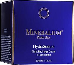 Voňavky, Parfémy, kozmetika Nočný regeneračný krém - Mineralium Hydra Source Night Recharge Cream