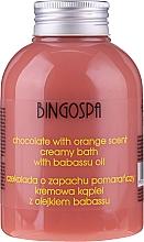 Voňavky, Parfémy, kozmetika Krémová krémová kúpeľ s čokoládovým a pomarančovým extraktom - BingoSpa