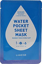Voňavky, Parfémy, kozmetika Hydratačná látková maska na tvár - Laneige Water Pocket Sheet Mask Water Bank