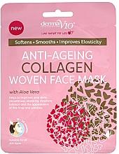 Voňavky, Parfémy, kozmetika Textilná maska na tvár - Derma V10 Woven Face Mask Anti Ageing Collagen