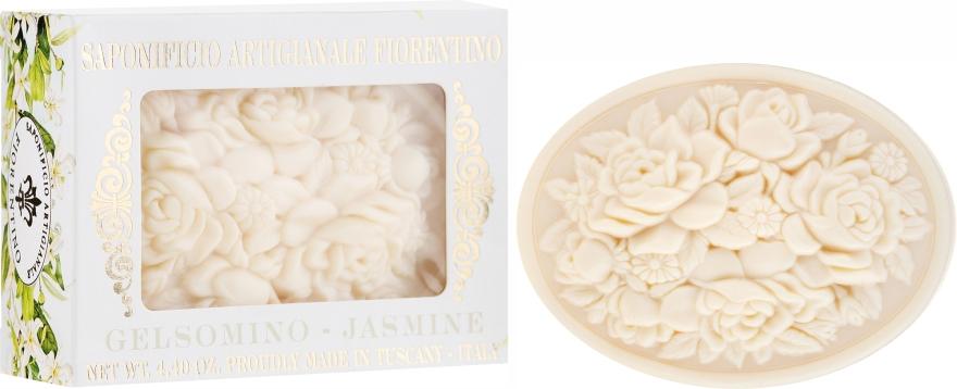 "Prírodné mydlo ""Jazmín"" - Saponificio Artigianale Fiorentino Botticelli Jasmine Soap"