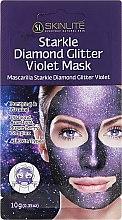Voňavky, Parfémy, kozmetika Exfoliačná maska s brilantným postriekaním - Skinlite Starkle Diamond Glitter Violet Mask