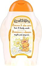"""Voňavky, Parfémy, kozmetika Detský šampón-sprchový gél """"Banán a Aloe vera"""" - Bluxcosmetics Naturaphy Hair & Body Wash"""