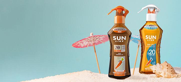 Zľava na akciové výrobky Sun Like. Ceny na stránke sú uvedené so zľavou