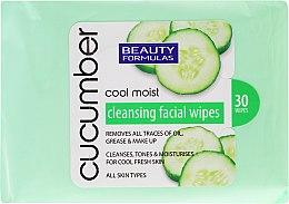 Voňavky, Parfémy, kozmetika Utierky na odstránenia make-upu s extraktom z uhoriek - Beauty Formulas Cucumber Cleansing Facial Wipes