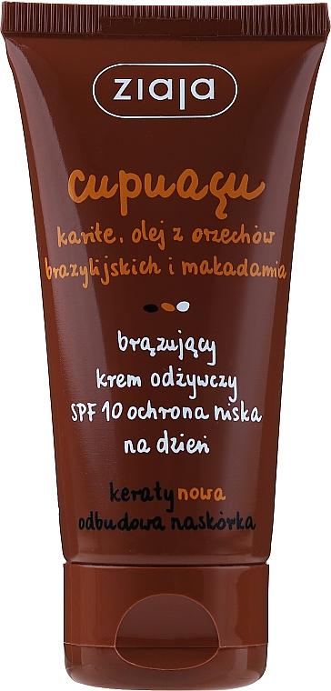 Krém-samoopaľovanie na tvár - Ziaja Cupuacu Bronzing Nourishing Day Cream Spf 10