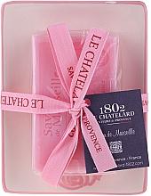 Voňavky, Parfémy, kozmetika Prírodné mydlo s keramickou mydlovničkou - Le Chatelard Rose Soap