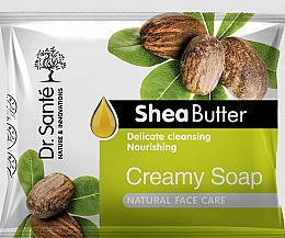 Voňavky, Parfémy, kozmetika Krémové mydlo s bambuckým maslom na tvár - Dr.Sante Cream Soap