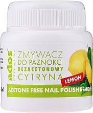 """Voňavky, Parfémy, kozmetika Odlakovač bez acetónu, s hubkou """"Citrón"""" - Ados Acetone Free Nail Polish Remover"""