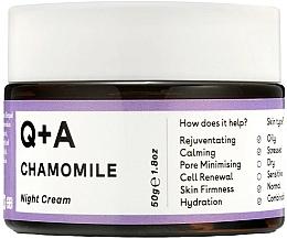 Voňavky, Parfémy, kozmetika Nočný krém na tvár - Q+A Chamomile Night Cream
