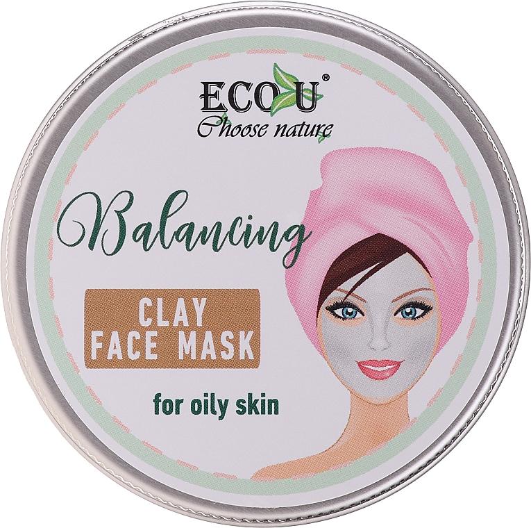 Vyvažovacia maska na tvár s hlinou pre mastnú pleť - Eco U Balancing Clay Face Mask For Oily Skin