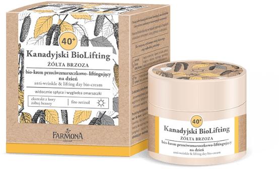 Denný bio krém proti vráskam 40+ - Farmona Canadian BioLifting Yellow Birch — Obrázky N1