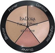 Voňavky, Parfémy, kozmetika Paleta na líčenie 5 v 1 - IsaDora Face Wheel All-In-One