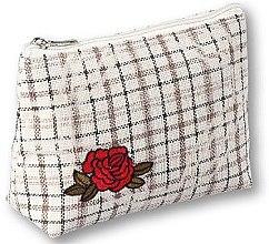 """Voňavky, Parfémy, kozmetika Kozmetická taška """"Rose"""", 95825, krémová - Top Choice"""
