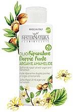 Voňavky, Parfémy, kozmetika Arganový olej na rozštiepené končeky s extraktom z listov hamamelu - MaterNatura