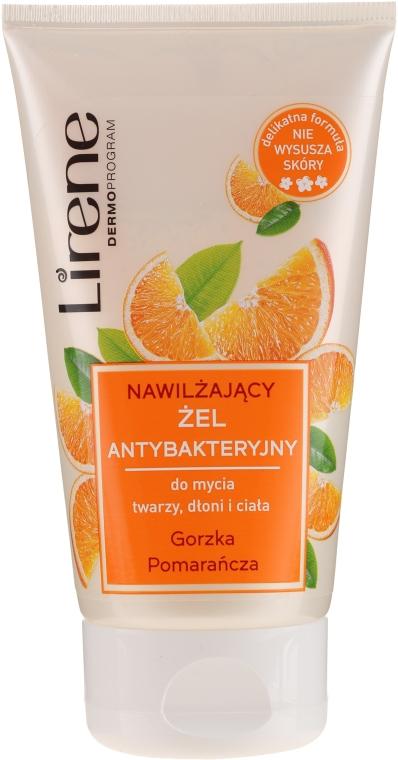 """Antibakteriálny gél """"Horký pomaranč"""" na umývanie rúk, tváre a tela - Lirene"""