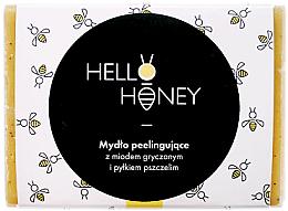Voňavky, Parfémy, kozmetika Peelingové mydlo s včelím peľom a medom - Lullalove Exfoliating Soap Bar With Honey