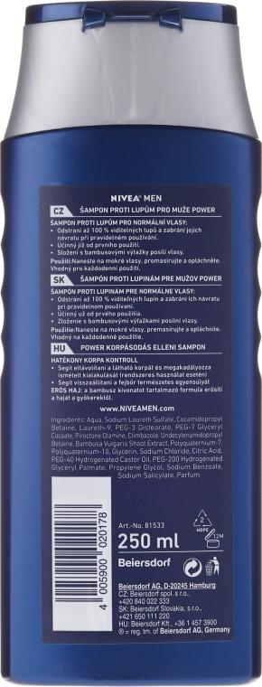 """Šampón """"Posilňujúci"""" proti lupinám pre mužov - Nivea For Men Anti-Dandruff Power Shampoo — Obrázky N3"""