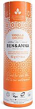 "Voňavky, Parfémy, kozmetika Dezodorant na základe sódy ""Vanilka a orchidea"" (kartón) - Ben & Anna Natural Soda Deodorant Paper Tube Vanilla Orchid"