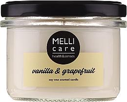 "Voňavky, Parfémy, kozmetika Vonná sviečka ""Vanilka a grapefruit"" - Melli Care Vanilla & Grapefruit Soy Wax Scented Candle"