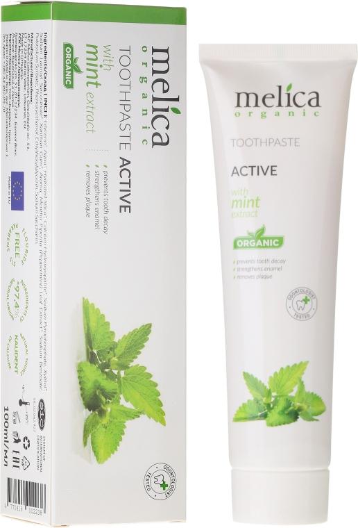 Zubná pasta s mätovým extraktom - Melica Organic